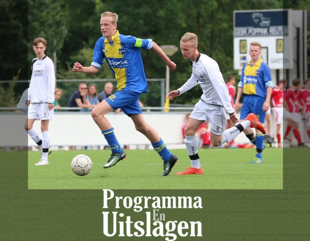 Programma -  Uitslagen 15 tm 18 september 2018