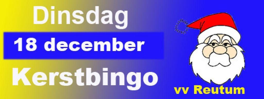 Dinsdag 18 december: Kerstbingo