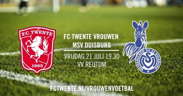 FC Twente vrouwen oefent in Reutum tegen MSV Duisburg