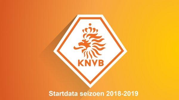Startdata seizoen 2018-2019