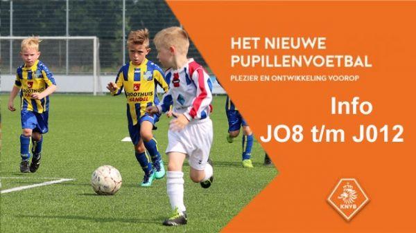 Informatie over het nieuwe pupillenvoetbal