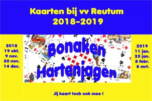 Kaartavonden seizoen 2018-2019